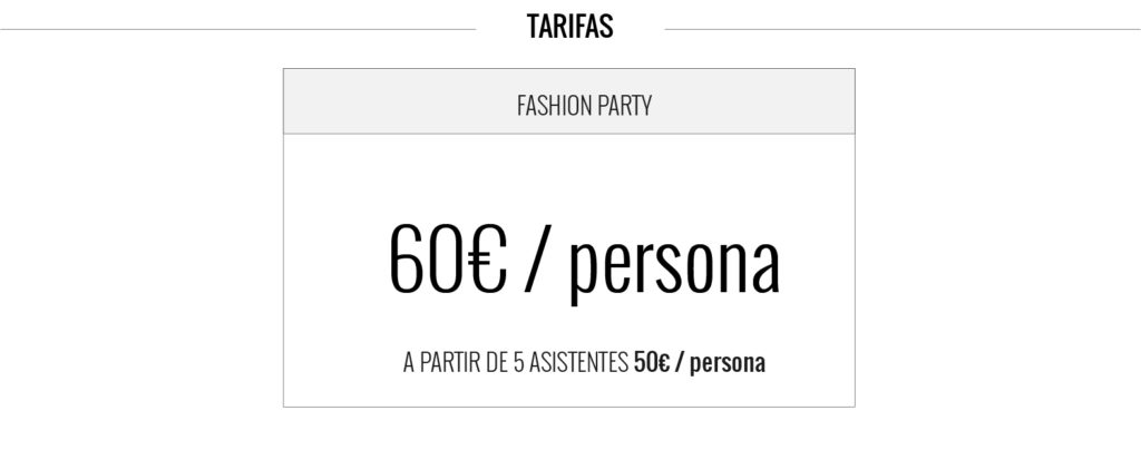precio fashion party